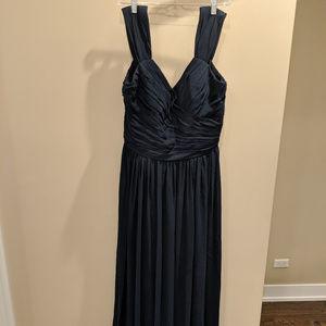 Bill Levkoff Navy Bridesmaid Dress